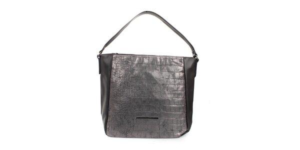 Dámska strieborná kabelka s jedným uchom Sisley