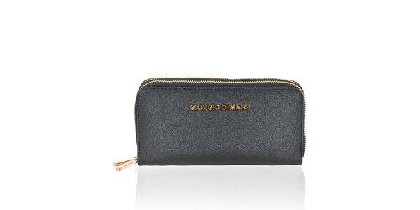 Dámska čierna peňaženka so zipsami Giorgio di Mare