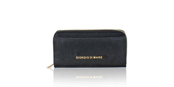 Dámska čierna peňaženka s dekoratívnym vzorom Giorgio di Mare