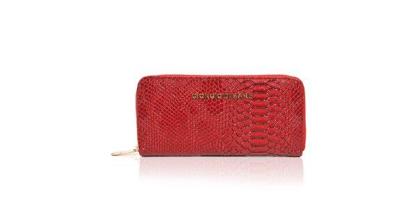 Dámska červená peňaženka s hadím vzorom Giorgio di Mare