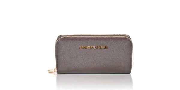 Dámska tmavo hnedá peňaženka so zipsami Giorgio di Mare