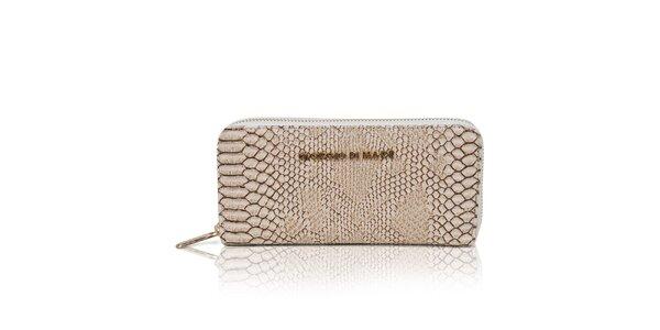Dámska krémová peňaženka s hadím vzorom Giorgio di Mare