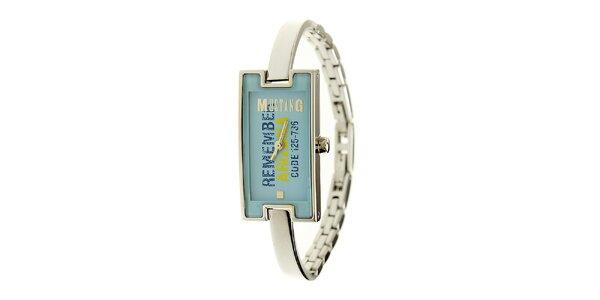 Dámske oceľové hodinky Mustang s modrým ciferníkom