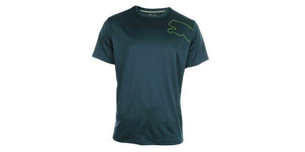 Pánske tmavo modré športové tričko Puma