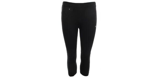 Dámske čierne 3/4 elastické nohavice s vreckom Puma