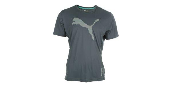 Pánske športové šedé tričko s reflexnými prvkami Puma