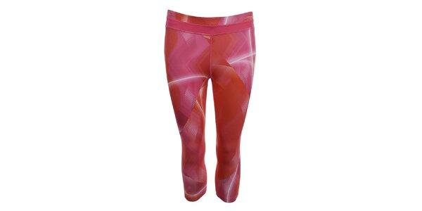 Dámske ružové vzorované fitness legíny Puma