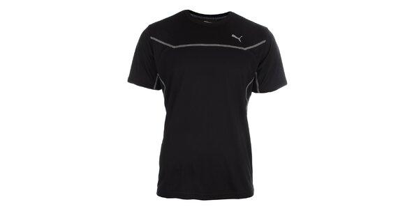 Pánske čierne funkčné tričko Puma