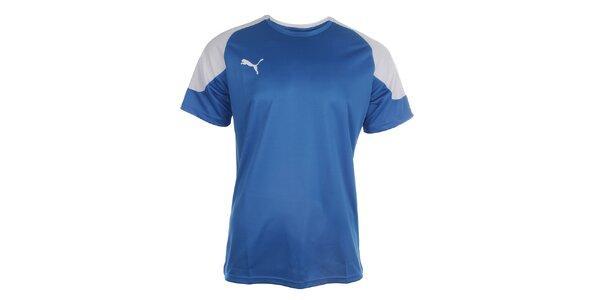 Pánske modro-biele športové tričko Puma