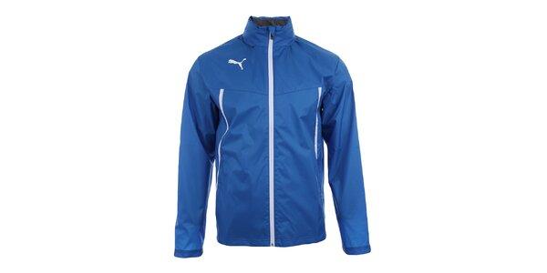 Pánska modrá športová bundička s bielymi prvkami Puma