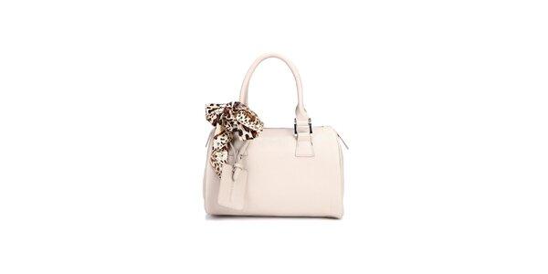 Biela kufřiková kabelka Belle & Bloom s ozdobnou šatkou