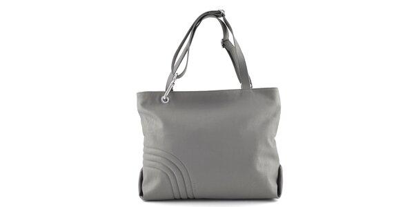 Dámska šedá kabelka s prešívaním Café Noir