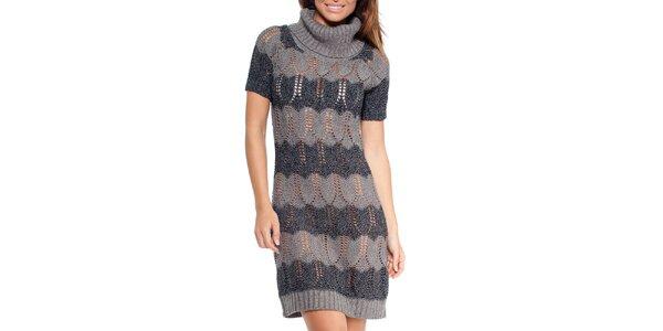 Dámske pruhované pletené šaty Peace&Love