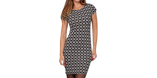 Dámske čierno-biele vzorované šaty Peace&Love