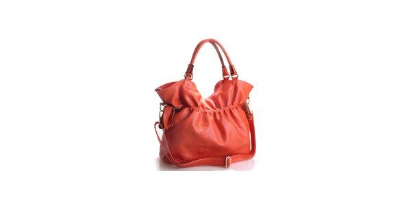 Dámska temne oranžová kožená kabelka Belle&Bloom