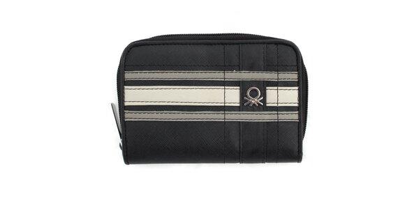Dámska čierna peňaženka s logom United Colors of Benetton