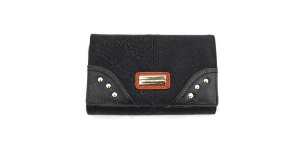 Dámska peňaženka s cvočkami United Colors of Benetton - čierna