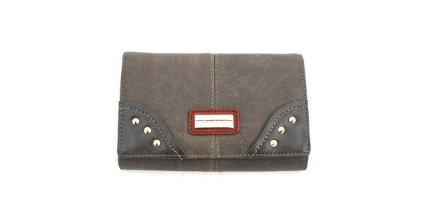 Dámska peňaženka s cvočkami United Colors of Benetton - šedá