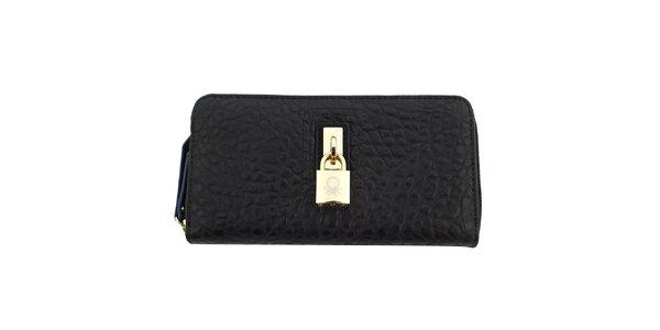 Dámska čierna peňaženka so zámčekom United Colors of Benetton