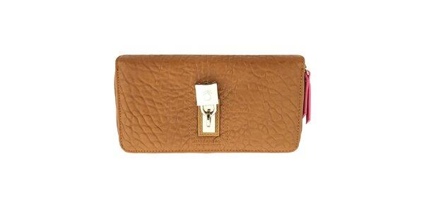 Dámska hnedá peňaženka so zámčekom United Colors of Benetton