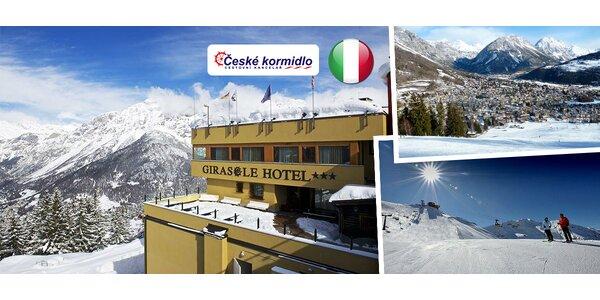 Lyžovačka v Bormiu v talianskych Alpách