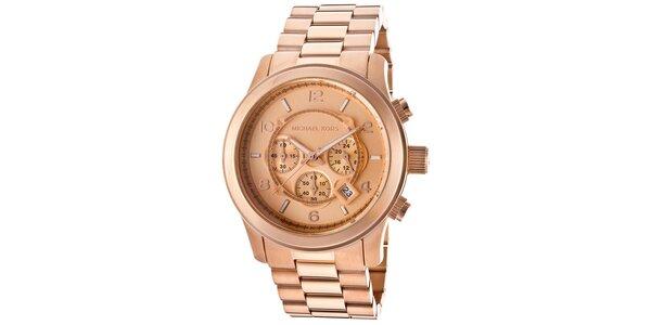 Pánske hodinky z nerezovej ocele v ružovo zlatom tóne Michael Kors