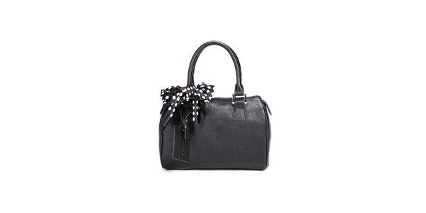 Čierna kufříková kabelka Belle & Bloom s ozdobnou šatkou