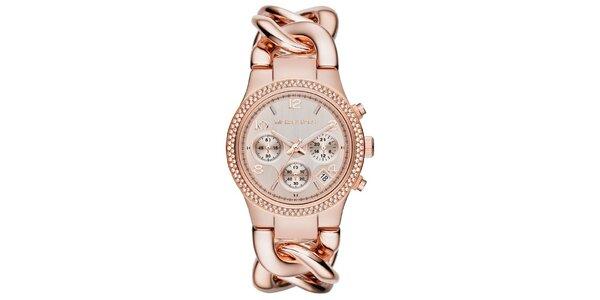 Dámske pozlátené hodinky s chronografom Michael Kors