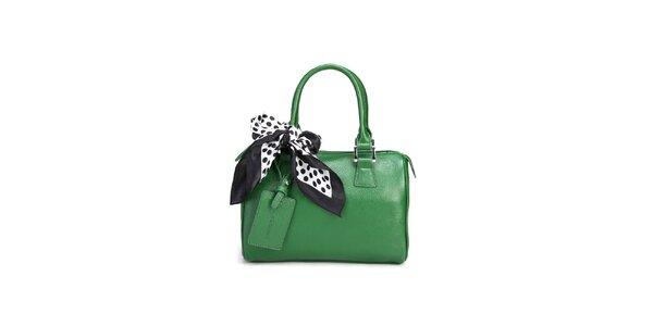 Trávovo zelená kabelka Belle & Bloom s ozdobnou šatkou
