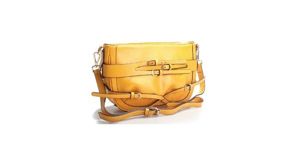 Horčicovo žltá kabelka cez rameno
