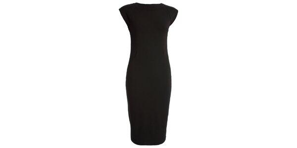 Dámske čierne šaty s krátkym rukávom CeMe London
