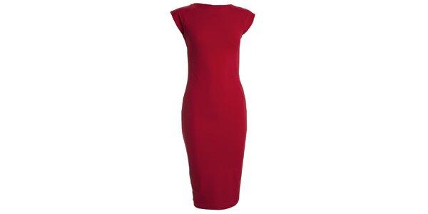 Dámske červené šaty s krátkym rukávom CeMe London