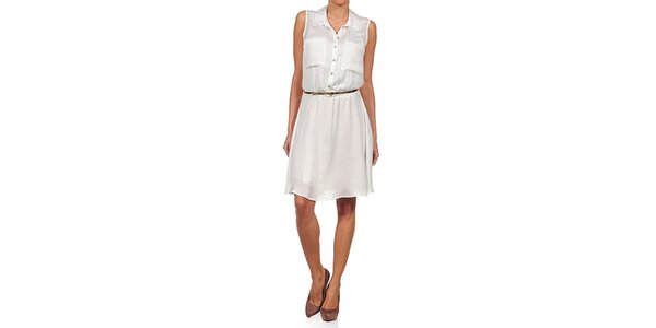 Dámske biele šaty s gombíkmi Guess by Marciano