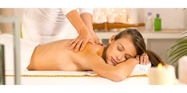 Hodinová klasická masáž s reflexnou masážou chodidiel