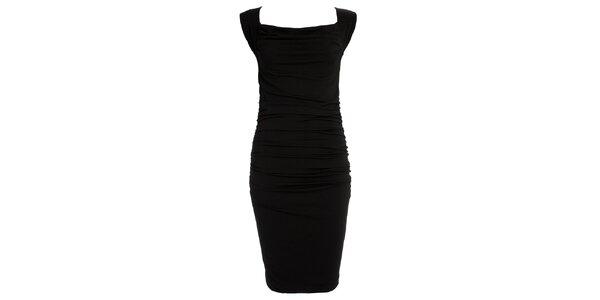 Dámske čierne šaty s prestrihom na chrbáte CeMe London