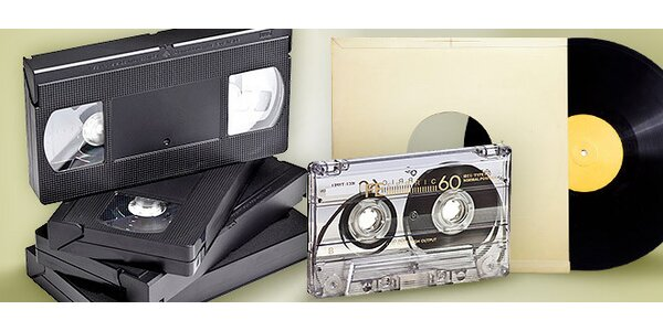 Prepis VHS na DVD, MC kaziet a LP platní na CD