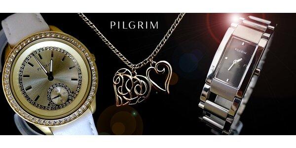 Krásne hodinky a trblietavé šperky PILGRIM