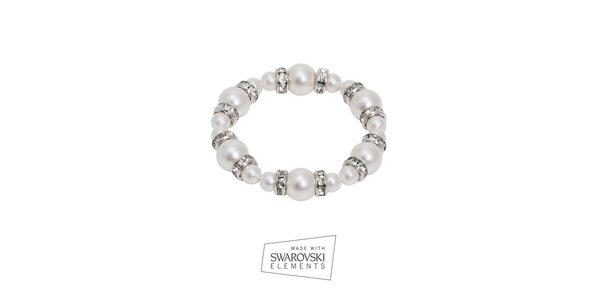 Dámsky perlový náramok Swarovski Elements