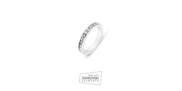Dámsky prsteň s kryštálikmi Swarovski Elements