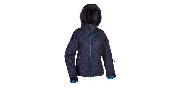 Dámska čierna zimná bunda s kapucňou Envy