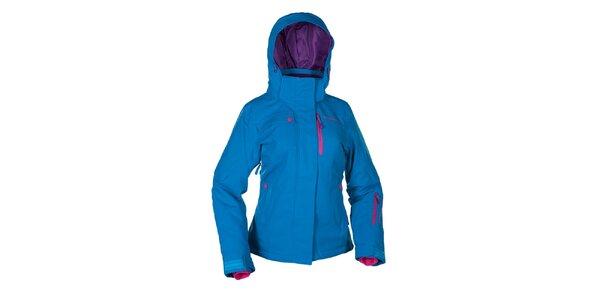 Dámska svetlo modrá zimná bunda s ružovými prvkami Envy
