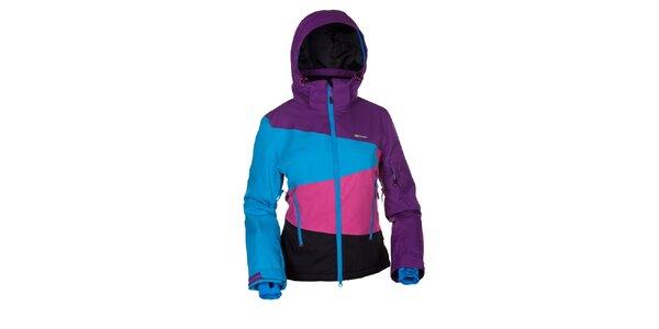 Dámska snowboardová bunda v modro-ružovo-fialovo-čiernej farbe Envy