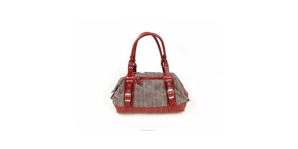 Dámska červená kockovaná kabelka Hippyssidy