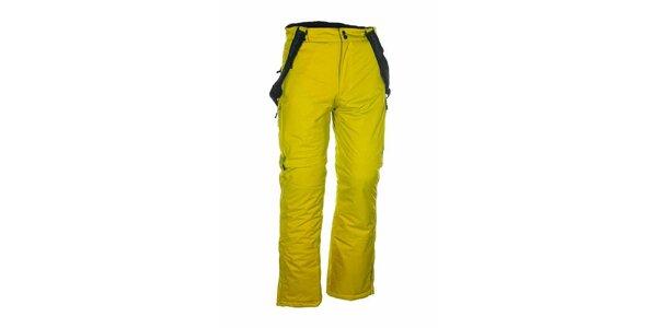 Pánske žlté lyžiarske nohavice Envy
