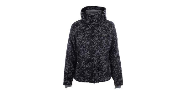 Dámska čierna lyžiarska bunda s potlačou Envy