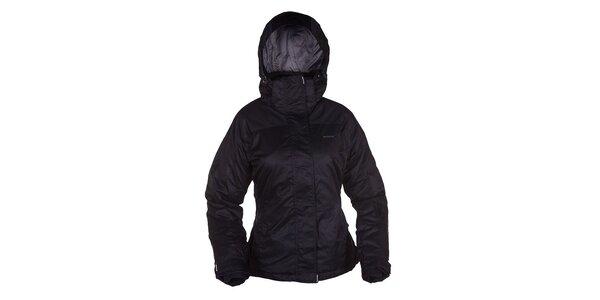 Dámska čierna bunda s kapucňou Envy
