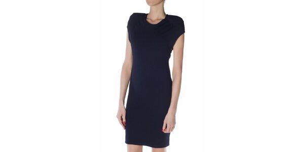 3833a9def75c Dámske tmavo modré púzdrové šaty Gene