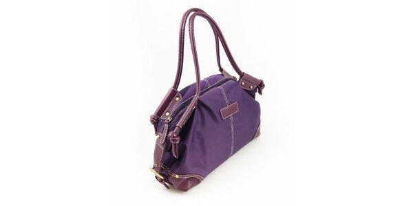 Dámska fialová nylonová kabelka Hippyssidy