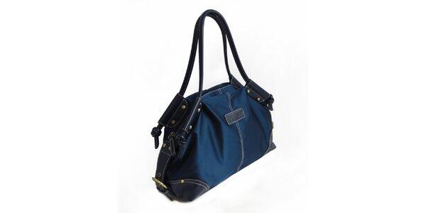 Dámska temne modrá nylonová kabelka Hippyssidy