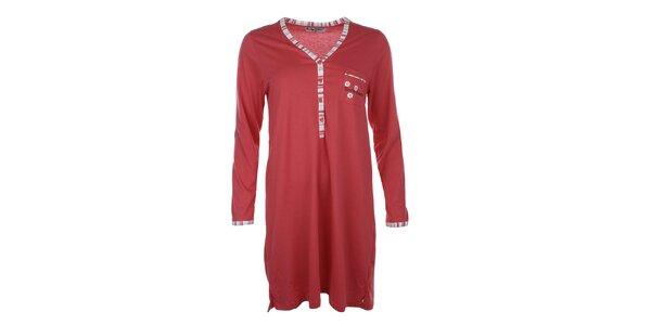 Dámska červená nočná košeľa s vreckom Body International